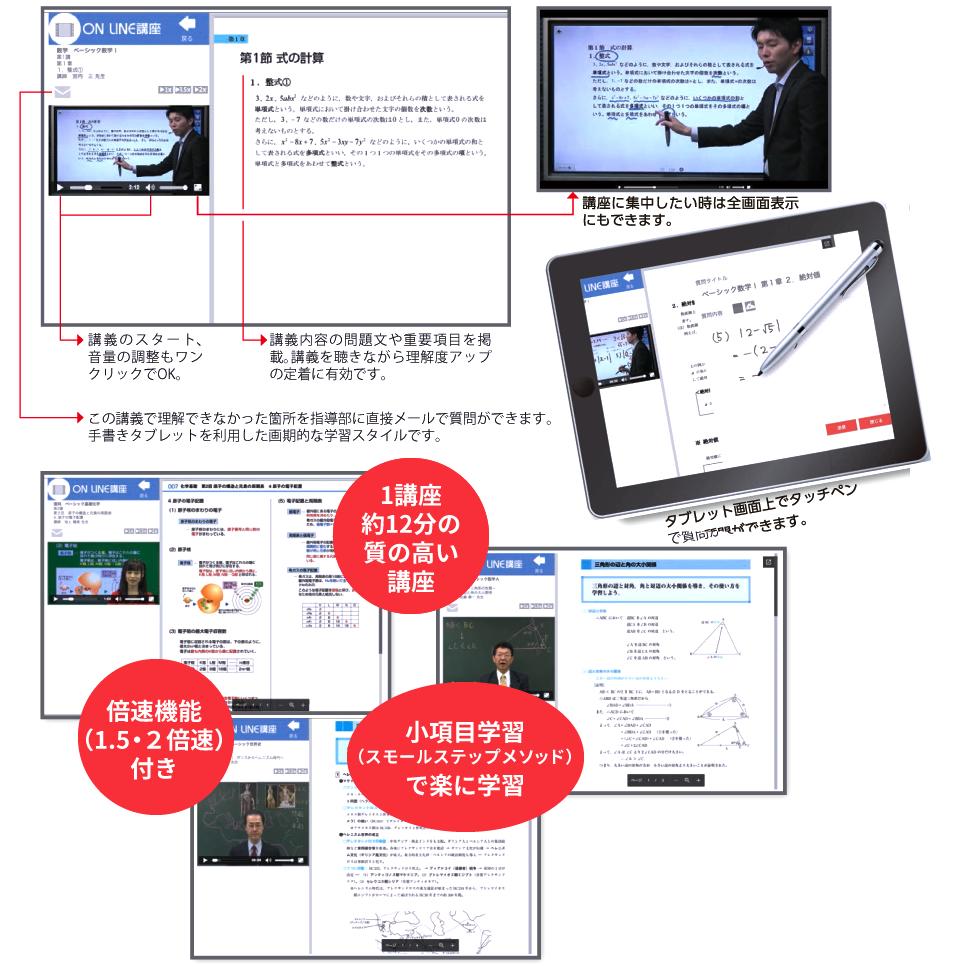 自宅学習用映像講義で要点を理解